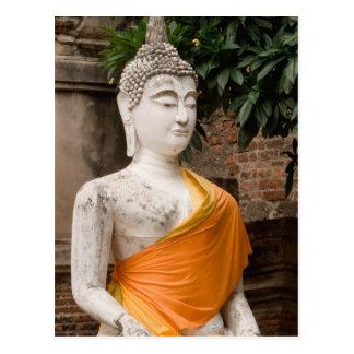 Asia, Thailand, Siam, Buddha at Ayutthaya Postcard