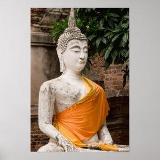 Asia, Thailand, Siam, Buddha at Ayutthaya Poster