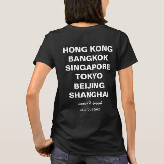 Asia Tour Hong Kong, Beijing, Bangkok Custom City T-Shirt