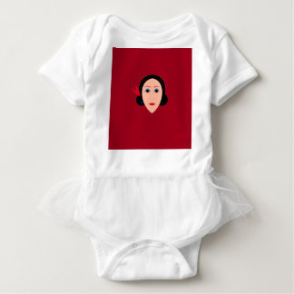 Asia wellness woman on  red baby bodysuit