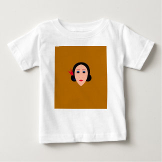 Asia woman on gold baby T-Shirt