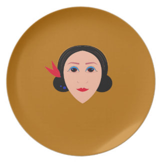 Asia woman on gold plate