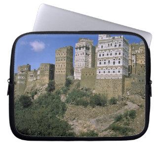 Asia, Yemen, Al Hajjara. Buildings and only Laptop Sleeve
