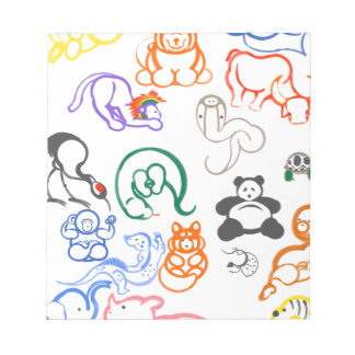 Asian Animals! Notepad