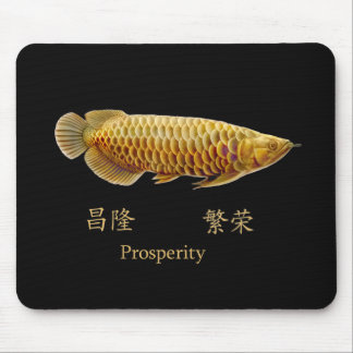 Asian Arowana Fish Prosperity Mousepad