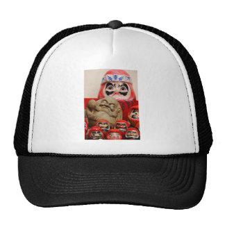 Asian art,  ceramic figures mesh hat