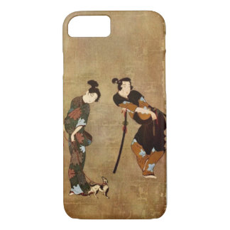Asian Art - Couple With Small Dog, 1913 iPhone 7 Case