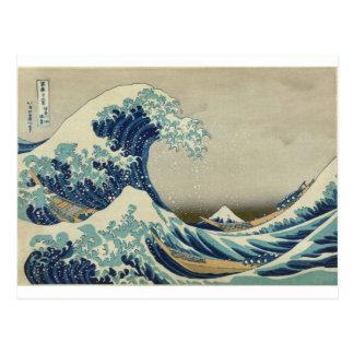 Asian Art - The Great Wave off Kanagawa Postcard