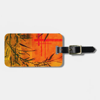 Asian Bamboo Art Luggage Tag