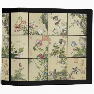Asian Bamboo Birds Flowers Wildlife Avery Binder