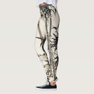 Asian Bamboo Leaves All Over Print Leggings