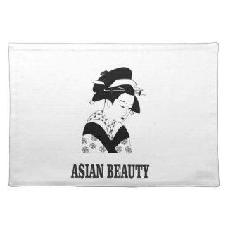asian beauty woman placemat
