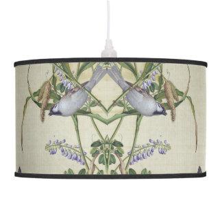 Asian Bird Flower Wildlife Wildflower Hanging Lamp