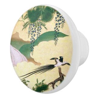 Asian Bird River Wisteria Flowers Knob