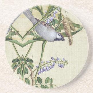 Asian Bird Wheat Wildflower Flower Animals Coaster