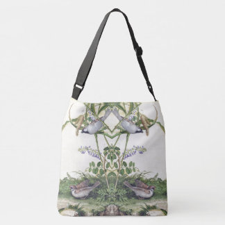 Asian Bird Wildlife Wildflowers Shoulder Tote Bag