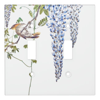 Asian Bird Wisteria Flowers Light Switch Cover