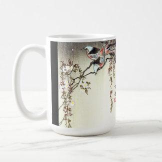 Asian Birds Animals Wildlife Flower Blossoms Mug