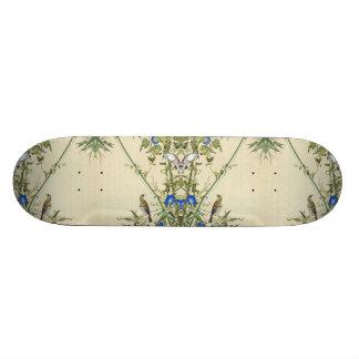 Asian Birds Bamboo Animal Floral Skateboard