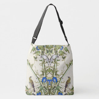 Asian Birds Bamboo Flowers Shoulder Tote Bag