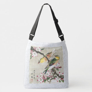 Asian Birds Flowers Wildlife Animals Tote Bag