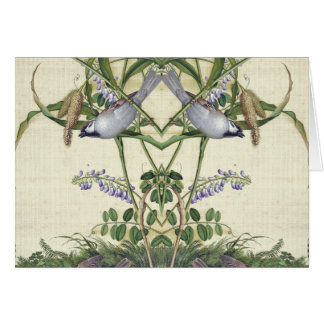 Asian Birds Habitat Wildflower Flowers Note Card