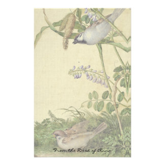 Asian Birds Wildflower Flowers Habitat Stationery
