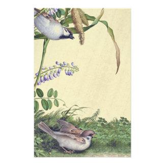 Asian Birds Wildflower Flowers Habitat Stationery