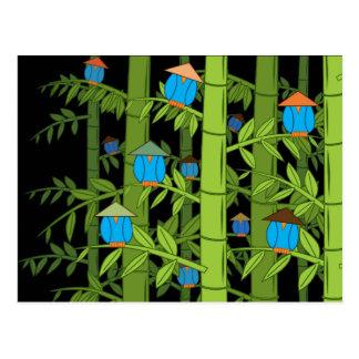Asian Blue Birds Postcard