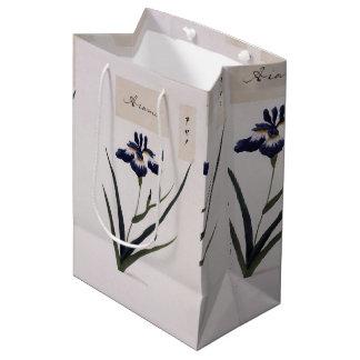 Asian Blue Iris Flowers Watercolor Gift Bag