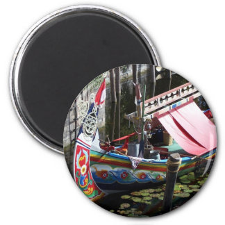 asian boat 2 inch round magnet