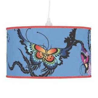 Asian Butterflies Hanging Pendant Lamp