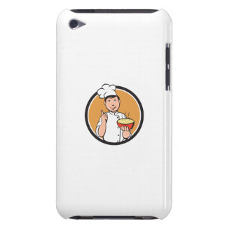 Asian Chef Noodle Bowl Circle Cartoon Case-Mate iPod Touch Case