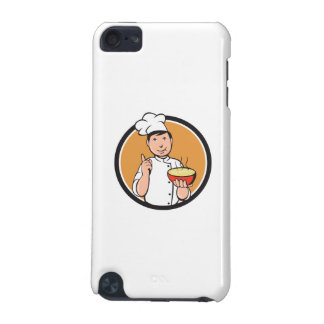 Asian Chef Noodle Bowl Circle Cartoon iPod Touch 5G Cases