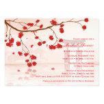 Asian cherry blossom bridal shower invitation