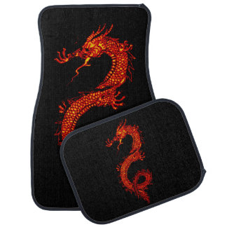 Asian, Chinese,Mythical Dragon, Year of the Dragon Car Mat