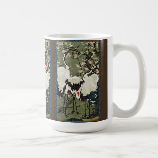 Asian Crane Birds Wildlife Flower Blossoms Mug
