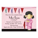 Asian Cutie - Birthday Party Invitation