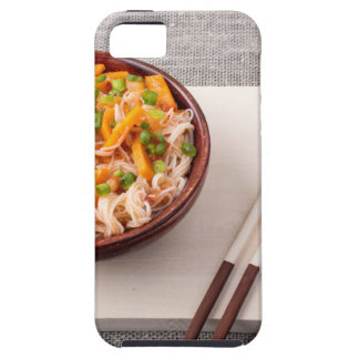 Asian dish of rice noodle and vegetable seasonings iPhone 5 cover