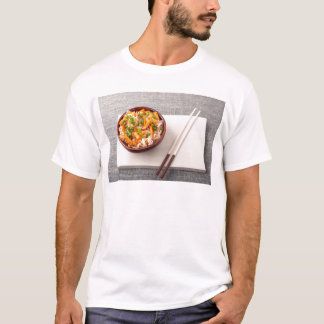 Asian dish of rice noodle and vegetable seasonings T-Shirt