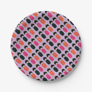 Asian Dolls Paper Plate