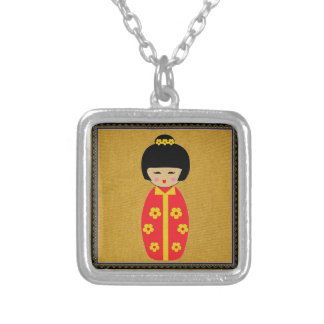 Asian Dolls Silver Plated Necklace