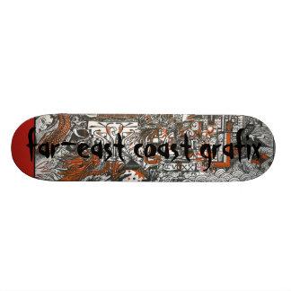 Asian Doodle Deck Skate Board