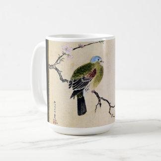 Asian Dove Bird Wildlife Flower Blossoms Mug