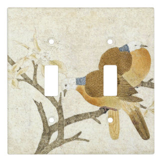 Asian Dove Birds Floral Animals Light Switch Cover