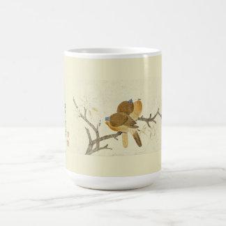 Asian Dove Birds Wildlife Flowers Painting Mug