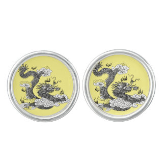 Asian Dragon Cuff Links