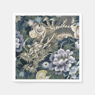 Asian Dragon Floral Pattern Napkins Disposable Napkin