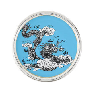 Asian Dragon Lapel Pin