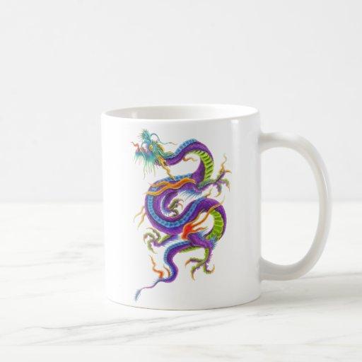 asian dragon mug